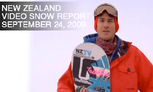 New Zealand Video Snow Report – September 24, 2009