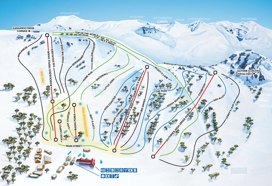 Charlotte Pass map