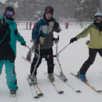 Cerebral Palsy Alliance skiing with Liberty Skis Pro Team