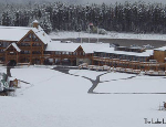 Early Snow Falls Continue in Banff, Canada