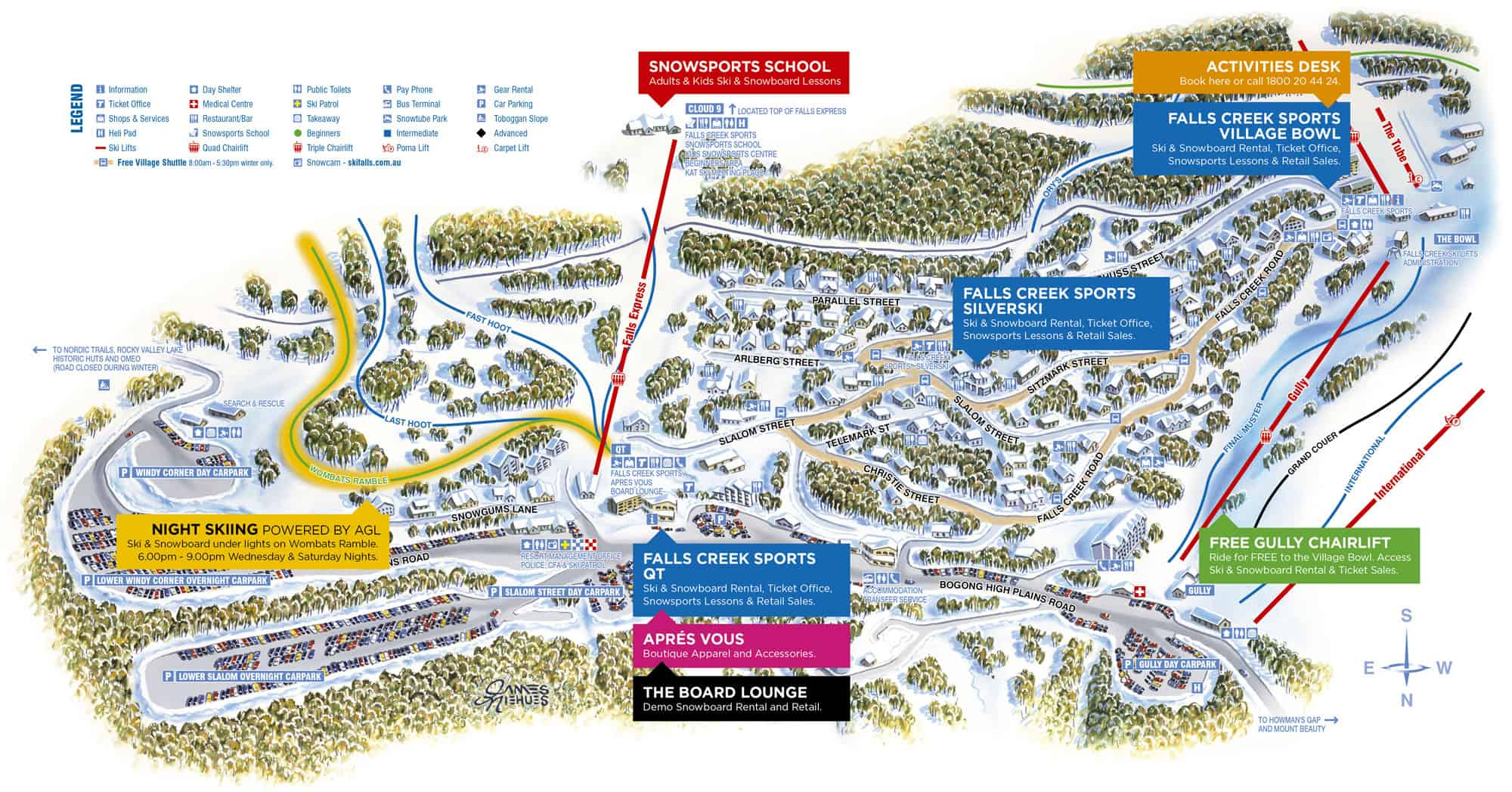 Falls Creek map