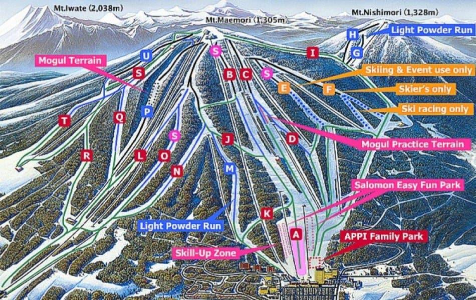 Appi Kogen map