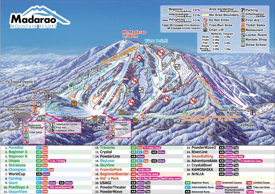 Madarao Kogen map