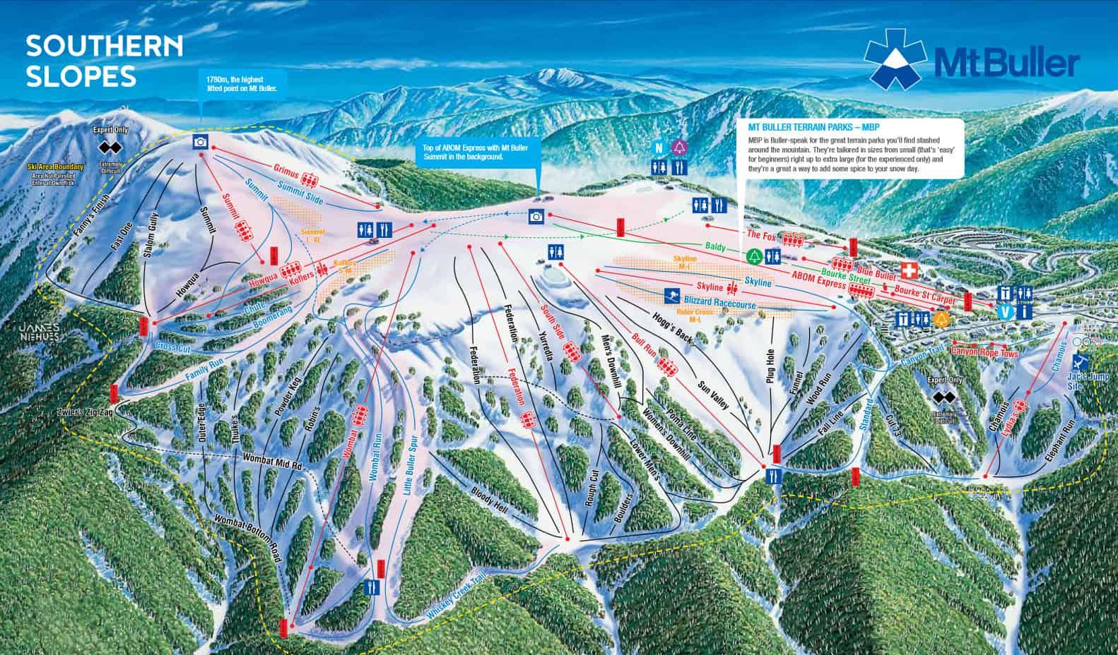 Mount Buller Trailmap