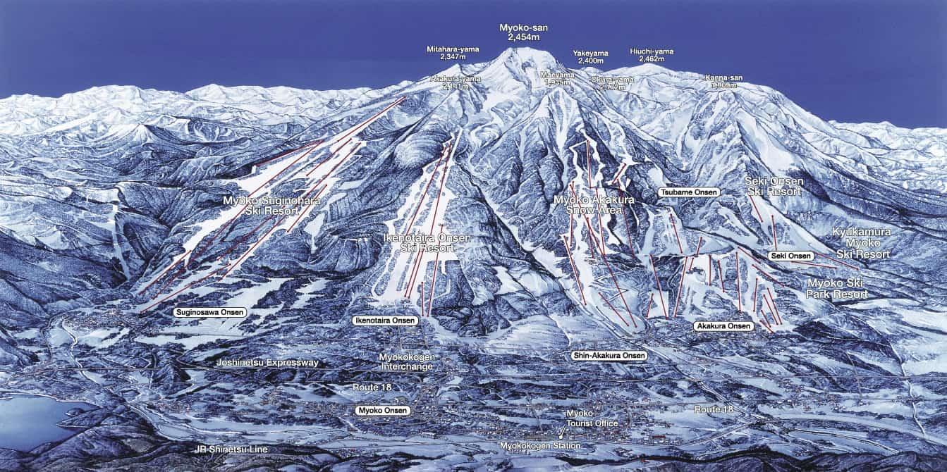 Myoko Kogen map