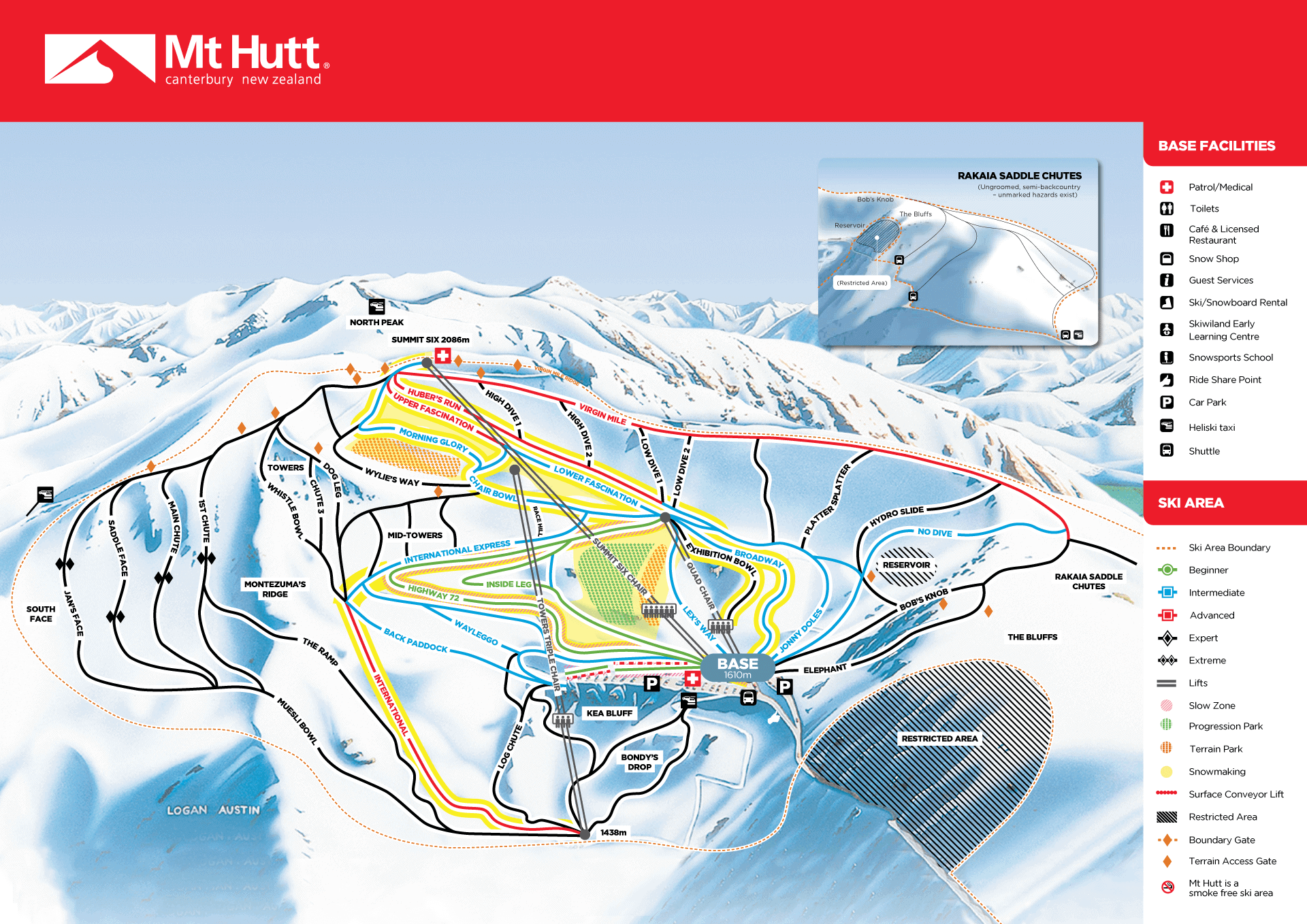 Mount Hutt map