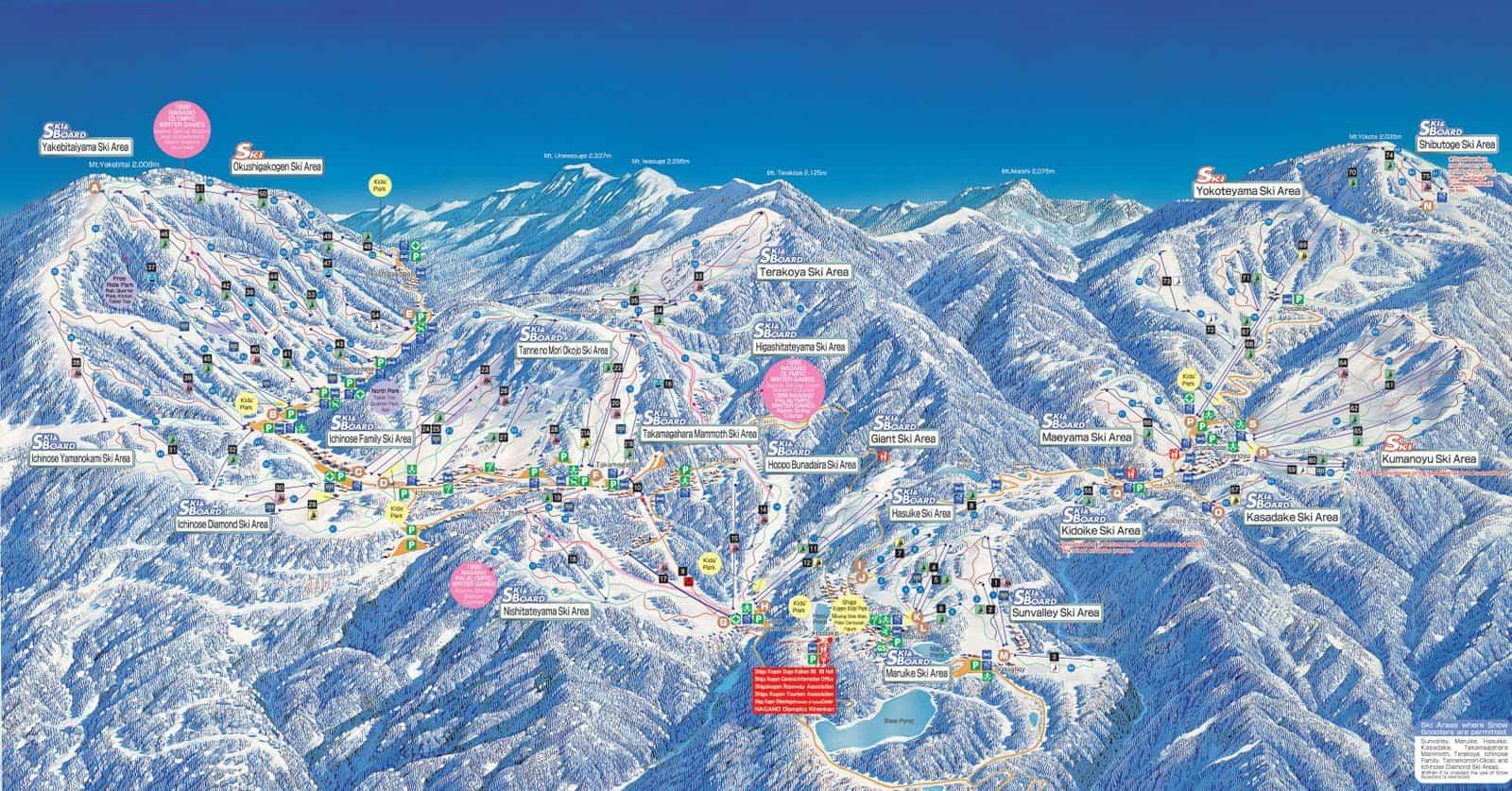 Shiga Kogen map