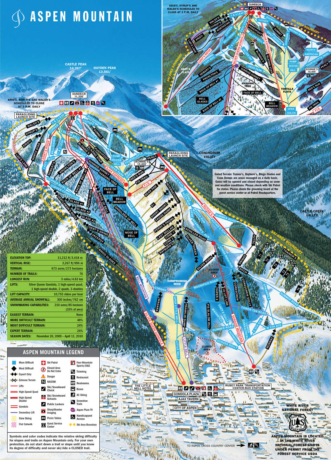 Aspen Mountain map