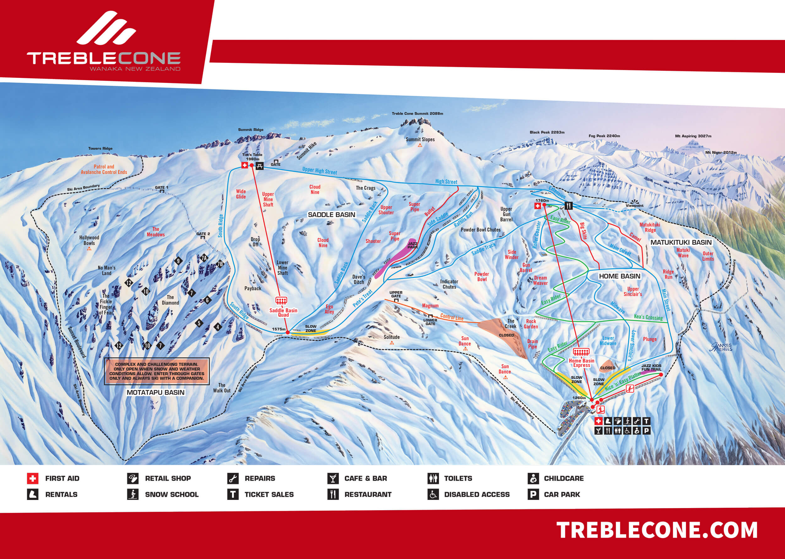 Treble Cone Trailmap