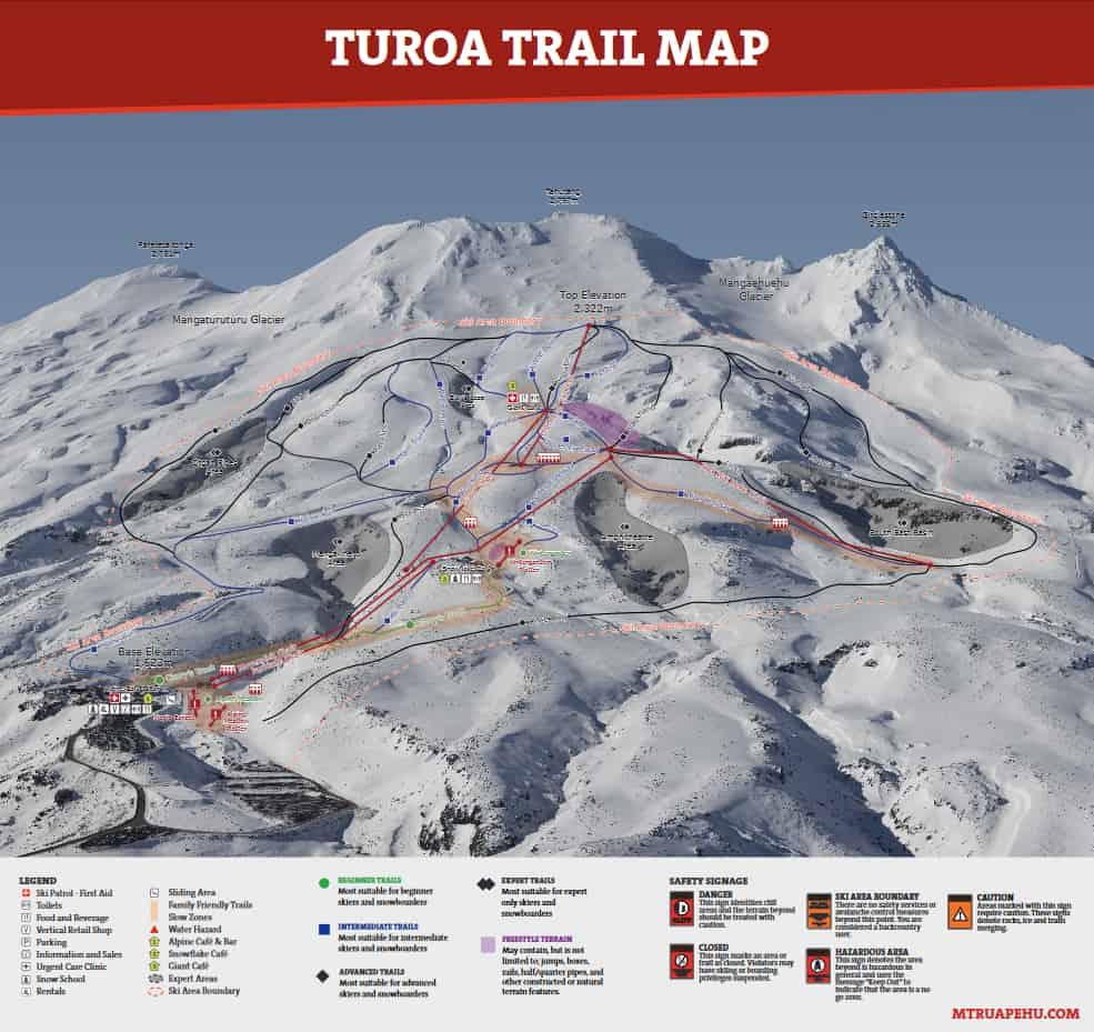 Turoa Trailmap