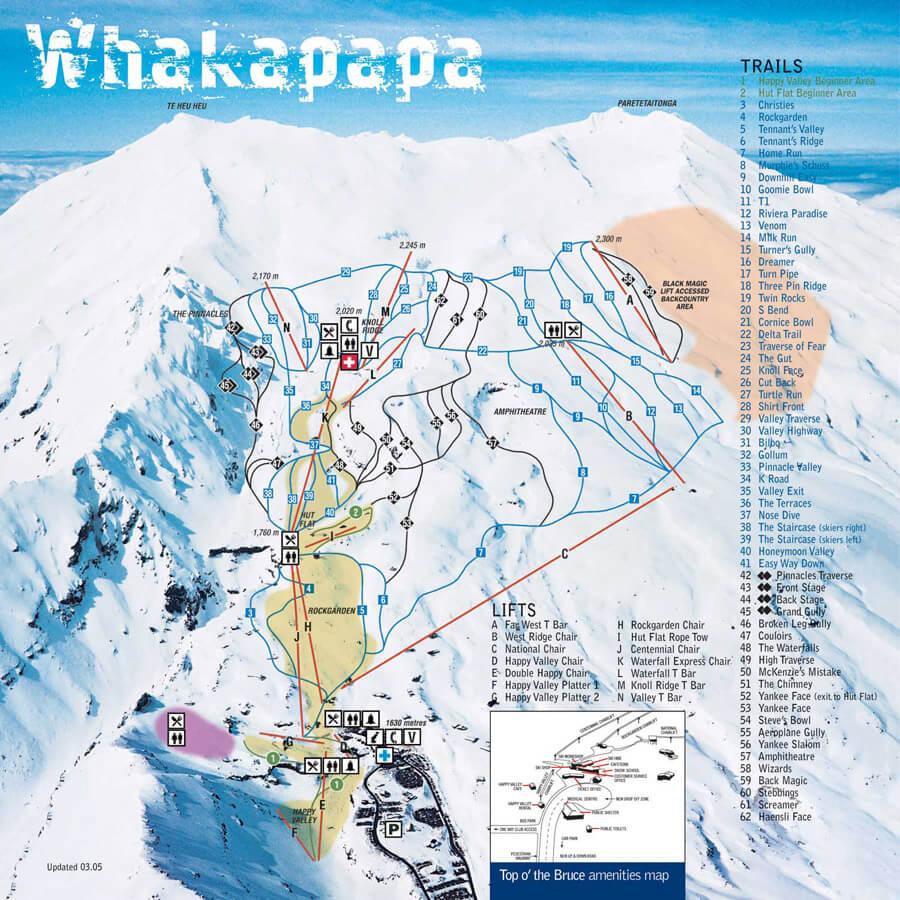 Whakapapa map