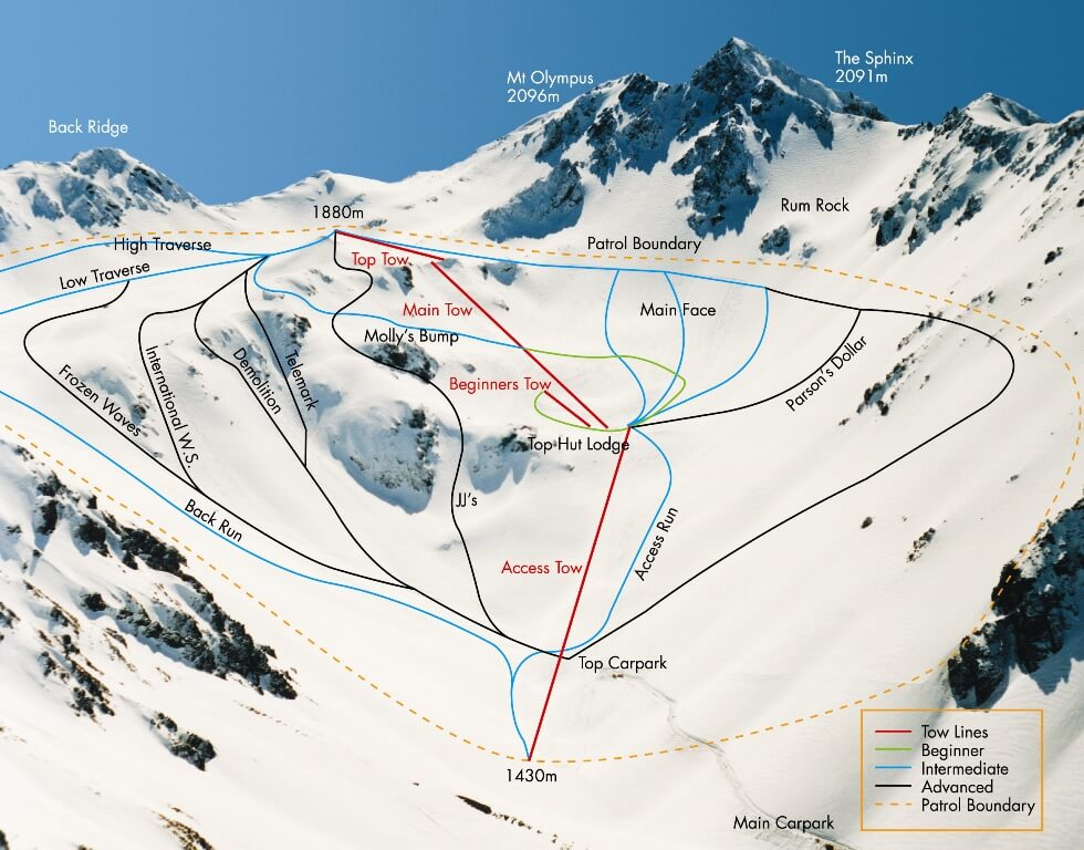 Mount Olympus map