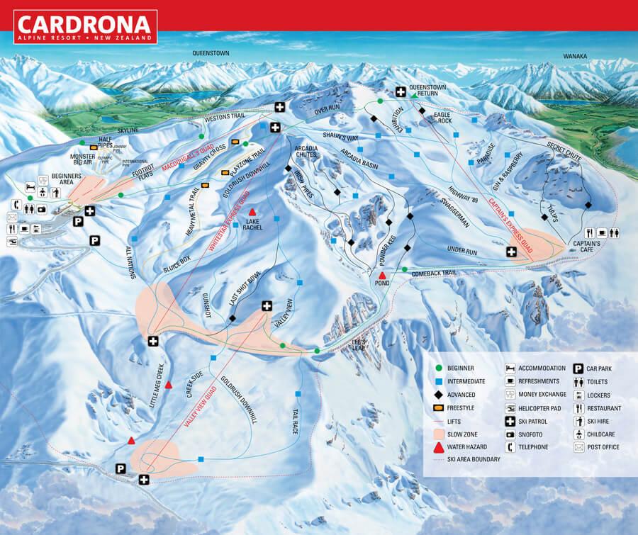 Cardrona map