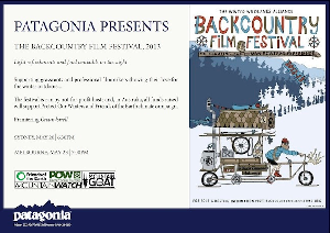 P.O.W. and Patagonia present the 2013 Backcountry Film Festival