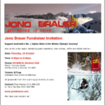 Jono Brauer – 2010 Olympic Athlete Fundraiser