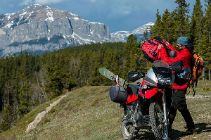 Riding Motorbikes Through The Rockies, A Ski Road Trip With a Difference – Video