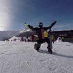 Guy Attaches Ski-Blades to his Body and Shreds Downhill – Video