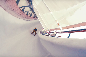 Watch Kevin Rolland and Julien Regnier Ski Down a Bobsled Track – Video