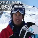 New Zealand Video Snow Report – August 20, 2009