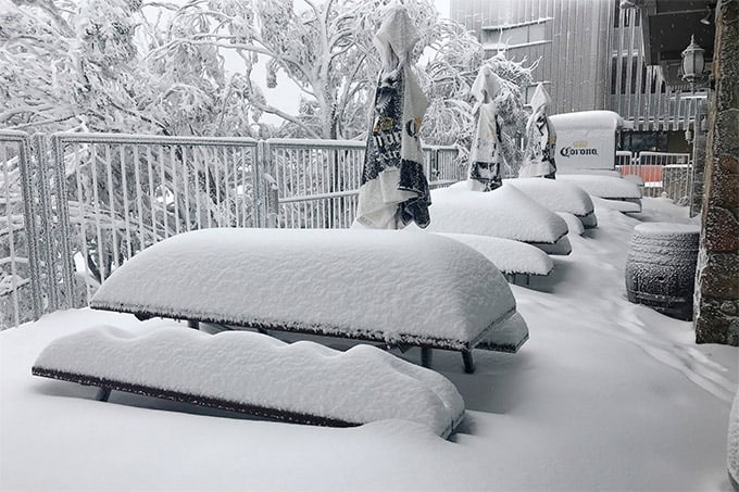 Looking a little chilly for Al Fresco dining in Buller. Photo: Buller