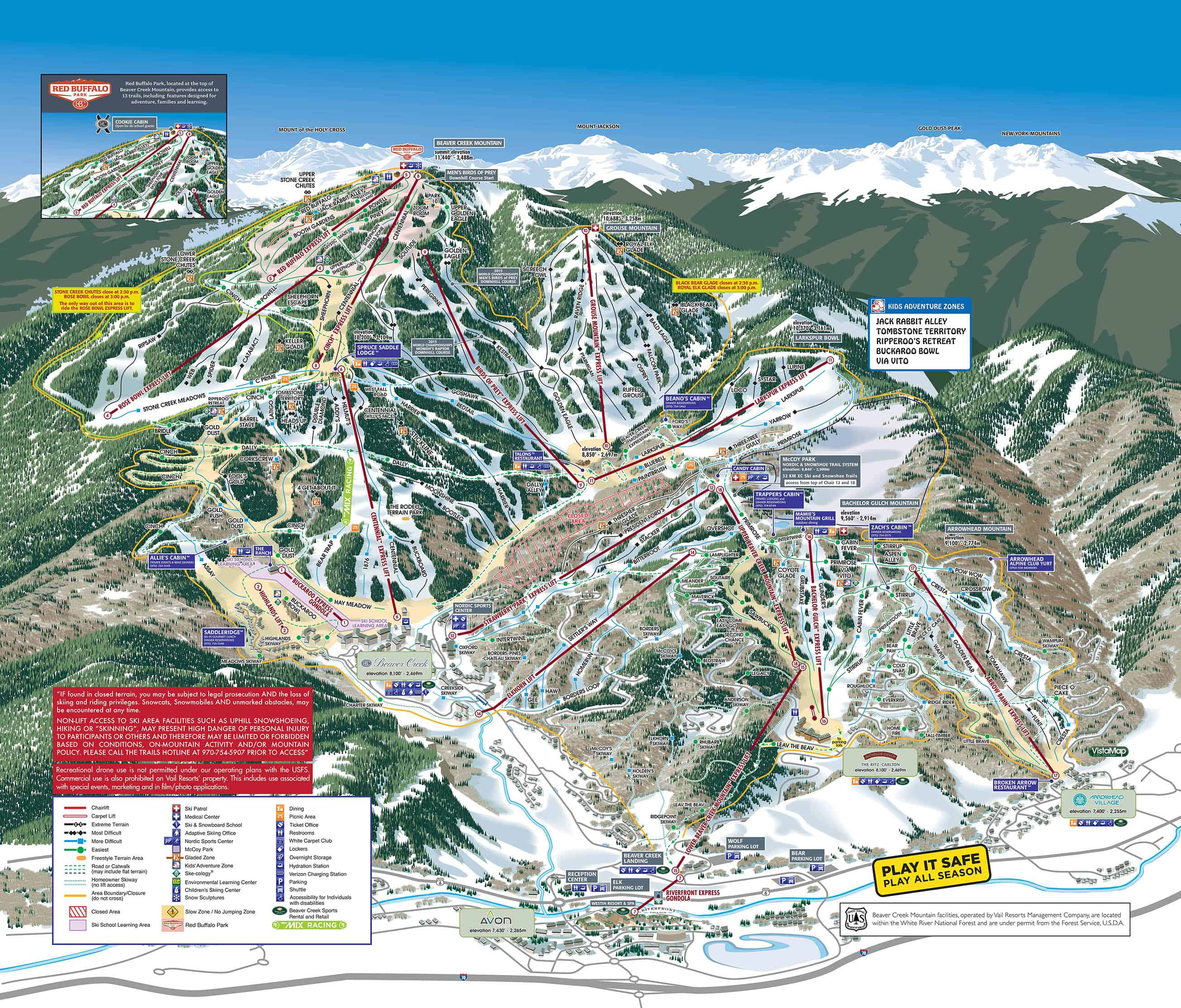 Beaver Creek Trailmap