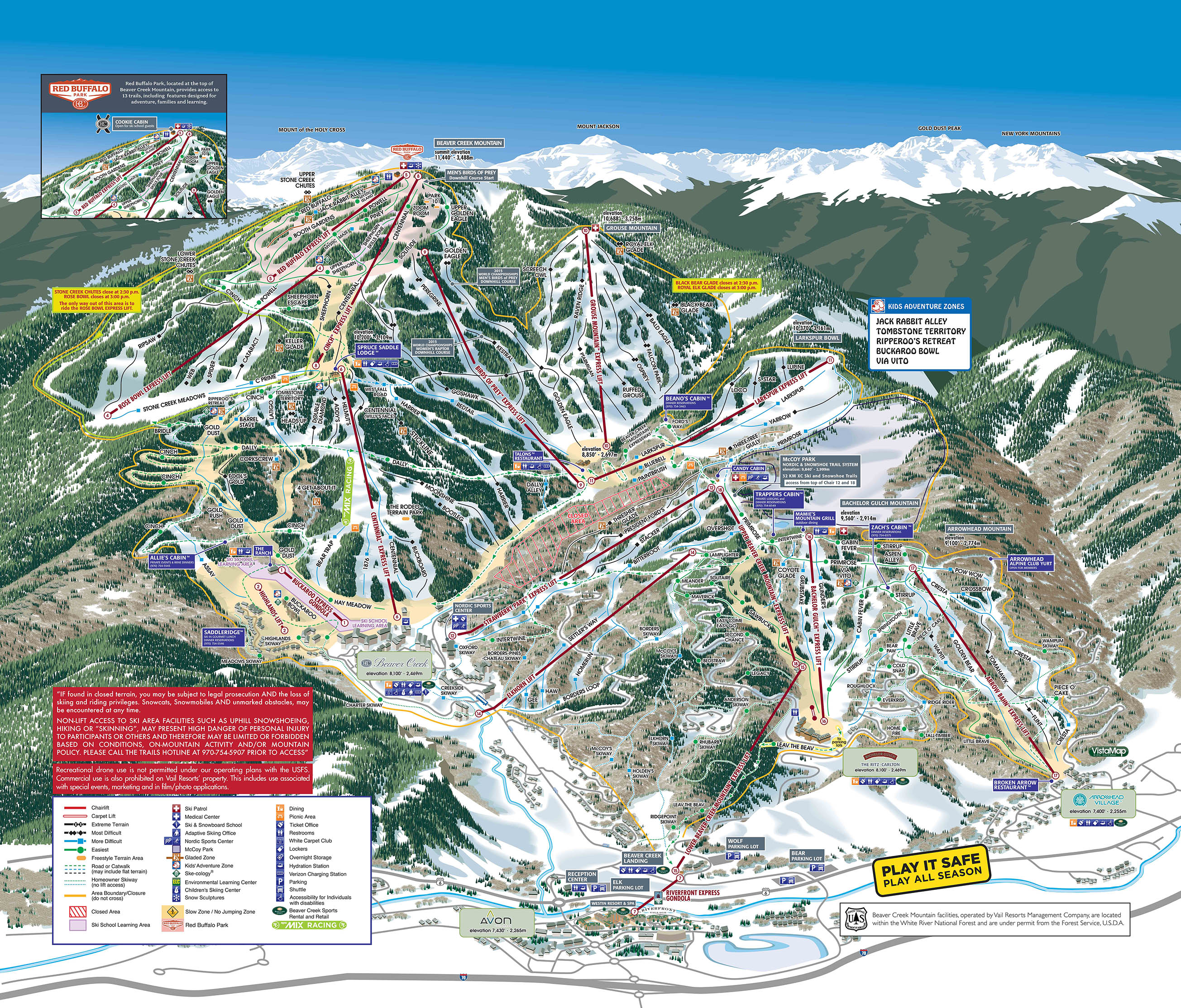 Beaver Creek map