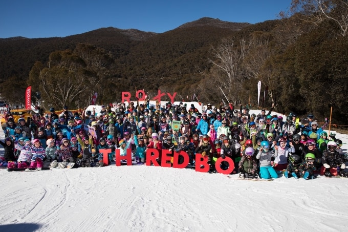 Torah's min-shred attracted a heap pf grommets. Photo: Thredbo
