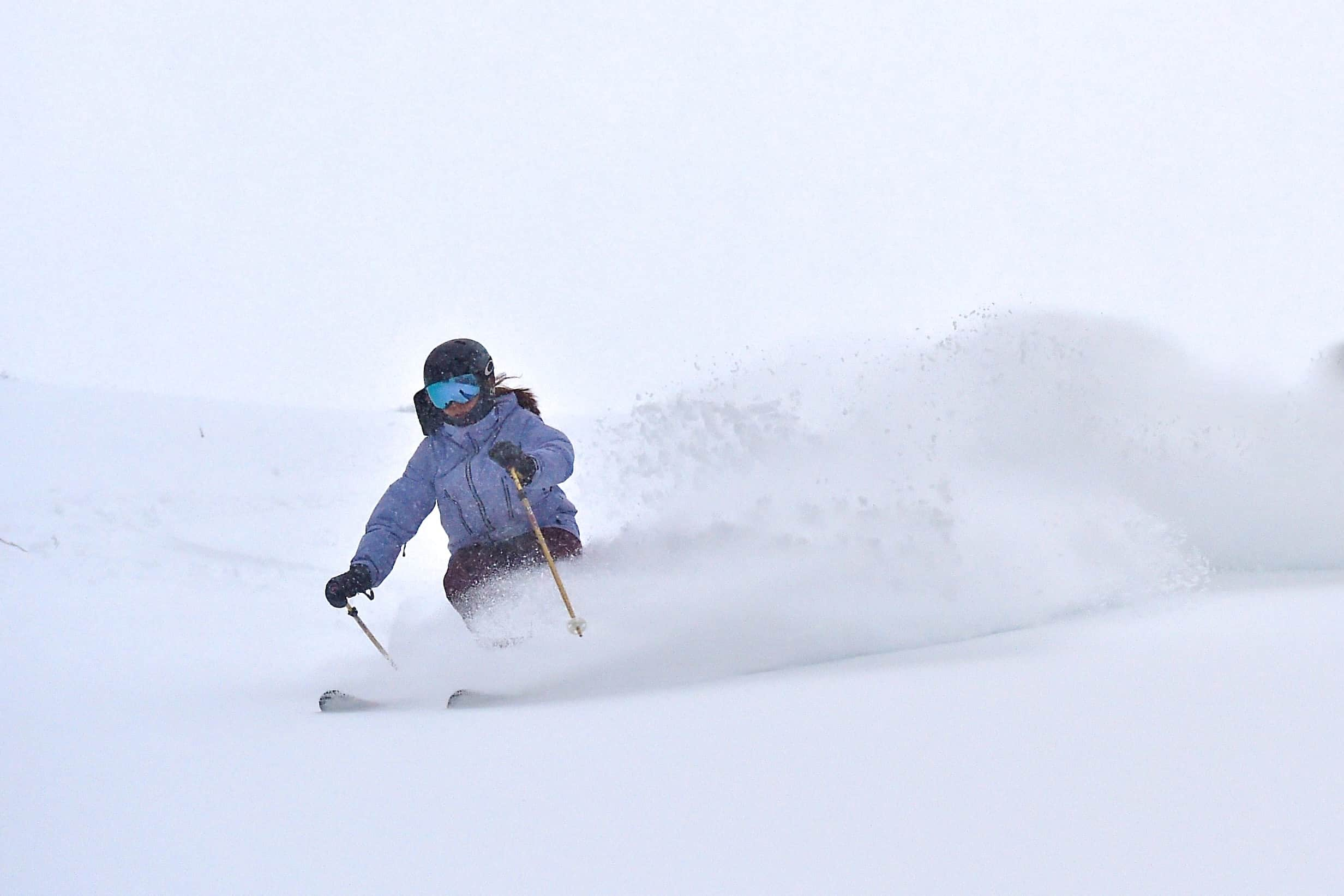 Bella Hackworth hooking into some prime Hotham pow on Sat, July 7. Photo: Chris Hocking