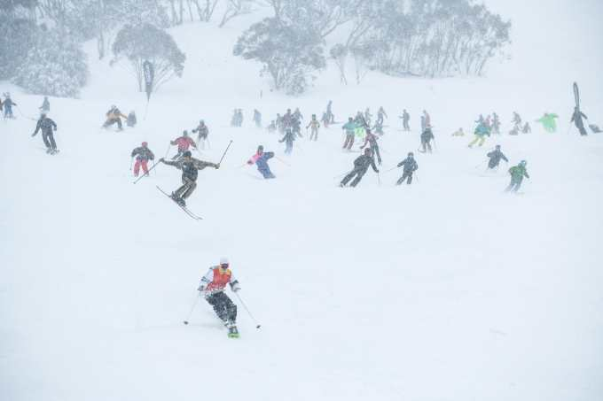 FreeBom party run, a highlight of the day. Photo: Tony Harrington