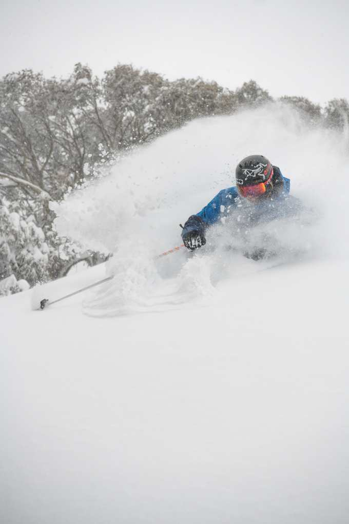 Coen Bennie-Faull hooking into Buller's powder on his Atris on the weekend. Photo: Tony Harrington