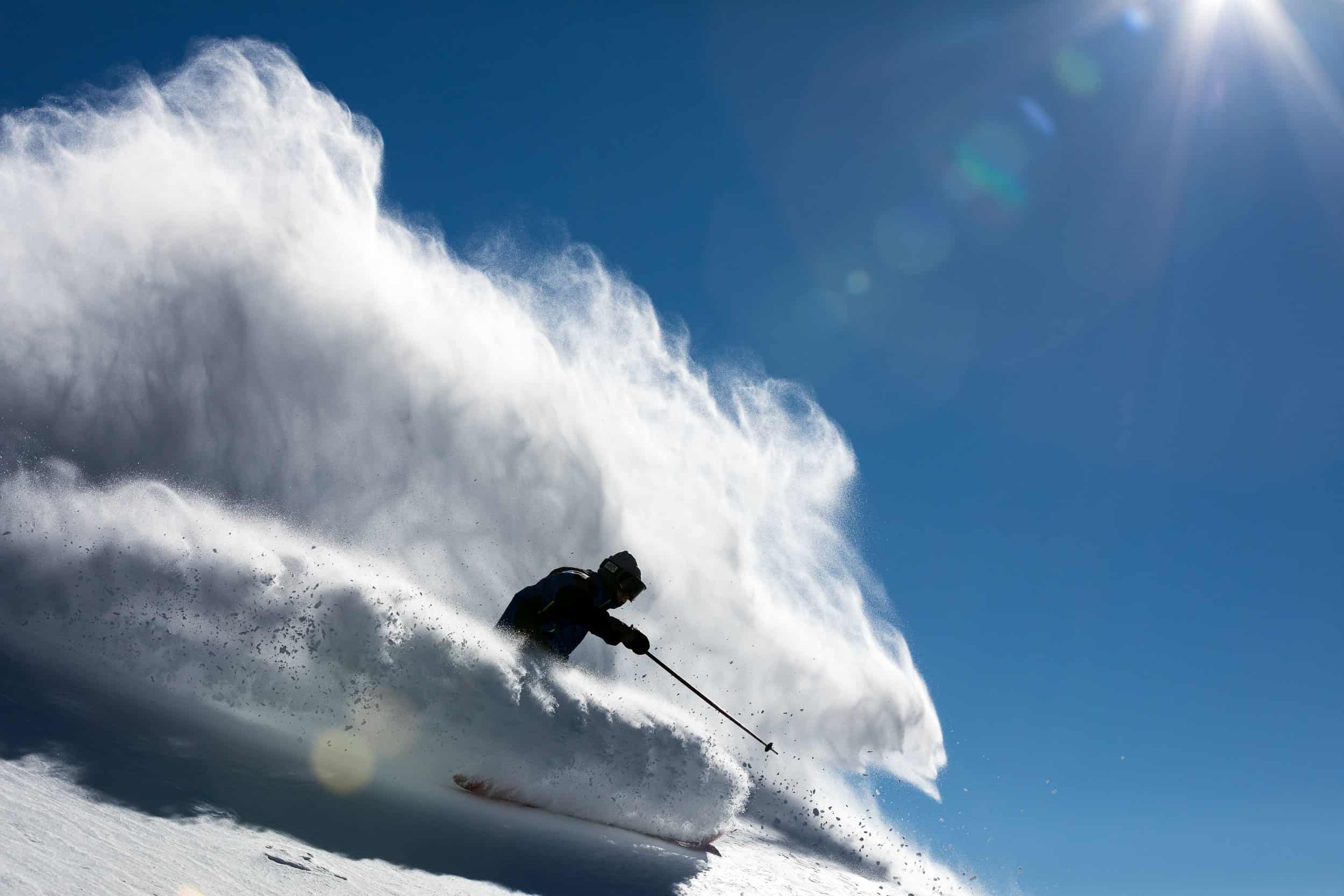 Thomas Waddell kicking up some cold smoke at Thredbo. One of our favourite images from earlier on in the season, taken during the first week of July. Image:: Aedan O'Donnell/Thredbo Resort