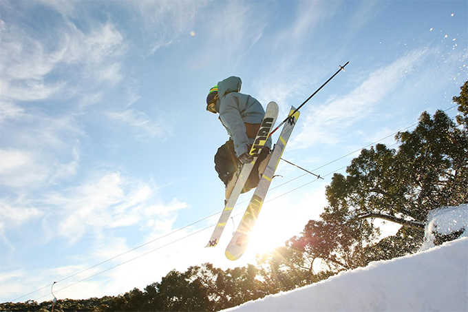 Baw Baw's rail jam in the Tank Hill park this Saturday. Photo: Mt Baw Baw