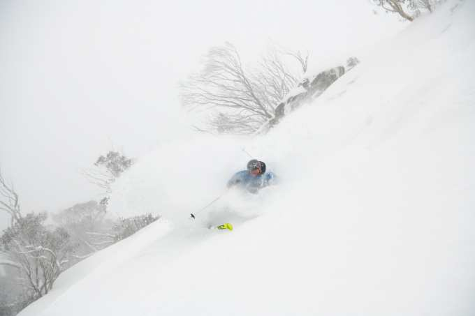 August 19 was one of the best powder days of the season and one of the last. Coen Bennie-Faull during a well-timed visit to Buller. Photo: Tony Harrington
