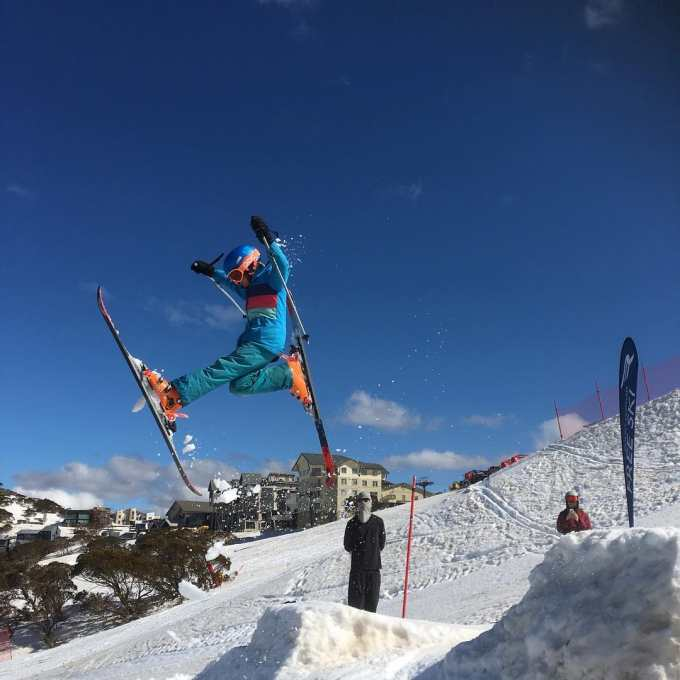 Mount Hotham Freeskki have been making the most of the spring snow and running a jumps camp.