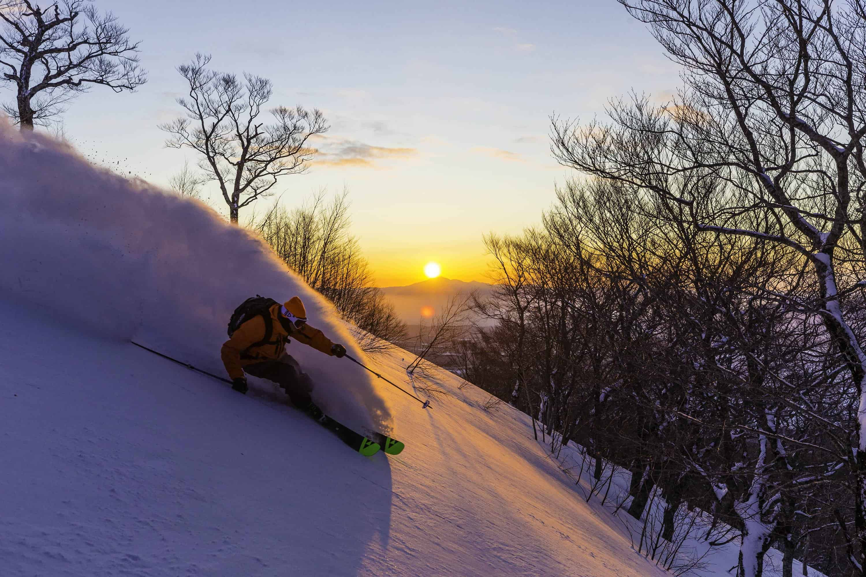 Sunrise + powder skiing = heaven? Photo:: Grant Gunderson