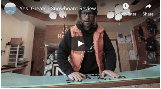 "Gear Guide – Yes ""Greats"" Snowboard Video review"