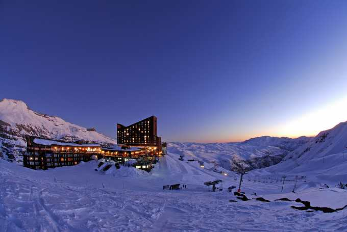 Sunset at Valle Nevado