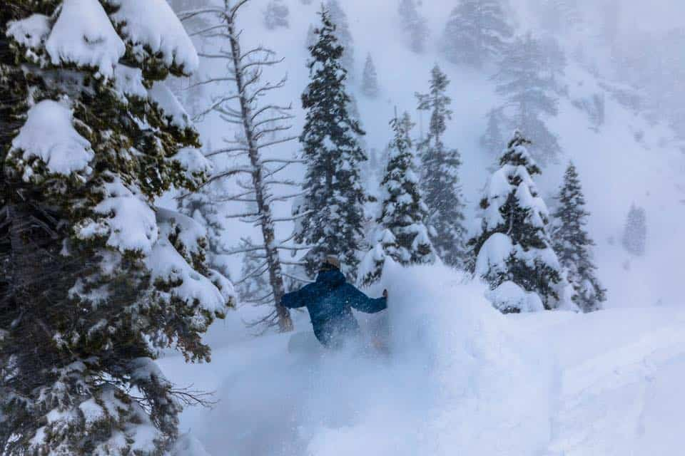 "Storm riding during the ""Big Foot"" storm, Squaw Valley 