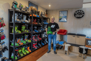 Andy Burford, an expert boot fitter, who c