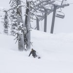 Freshies under the KT22 chair in Squaw Valley on May 17. Photo: Ben Arnst