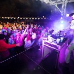 First Base getting the crowd pumped at Thredbo's Alpine bar