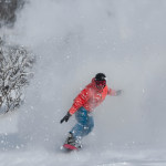 Richie Carroll, Thredbo, Saturday August 9.This is the stock we all felt win all resorts when the storm dropped 40- 90cms in two  days. Photo: Thredbo