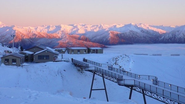 Sunrise over Snow Park NZ. Image - Snow Park NZ