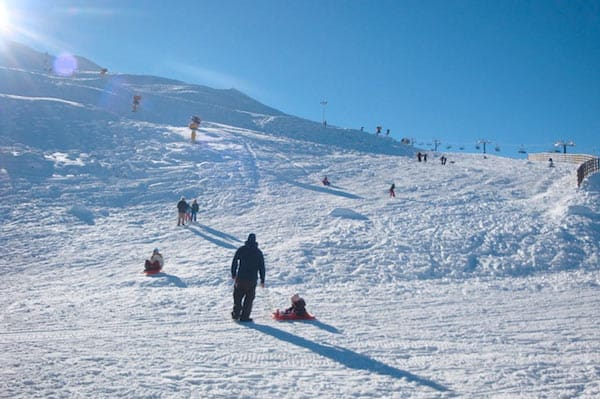Enjoying Coronet Peak's good pre-season snow. Image - NZski.com