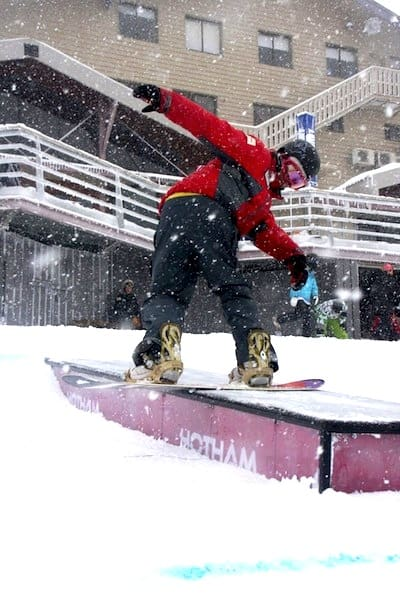 "Hotham snowboard instructor ""Jake"" impressssing the class"