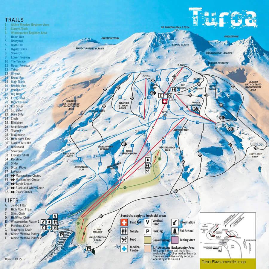 Turoa map
