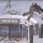 Imagine if you Had The Chance To Jib A Bus, in Two Feet of Powder - Video
