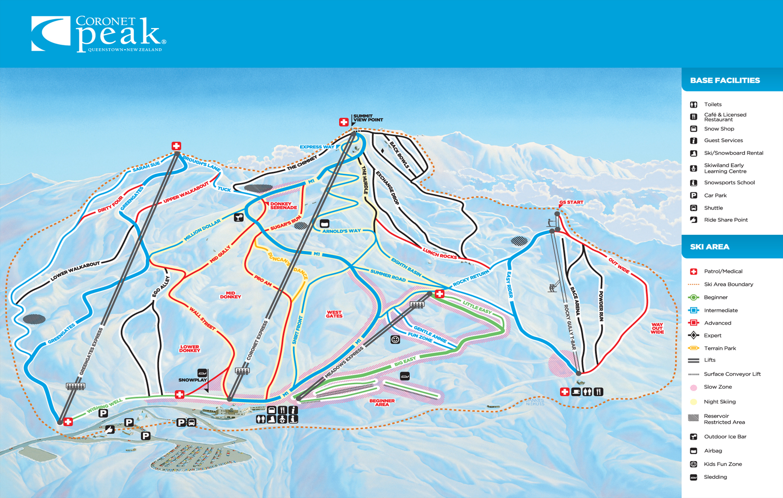Coronet Peak Trailmap