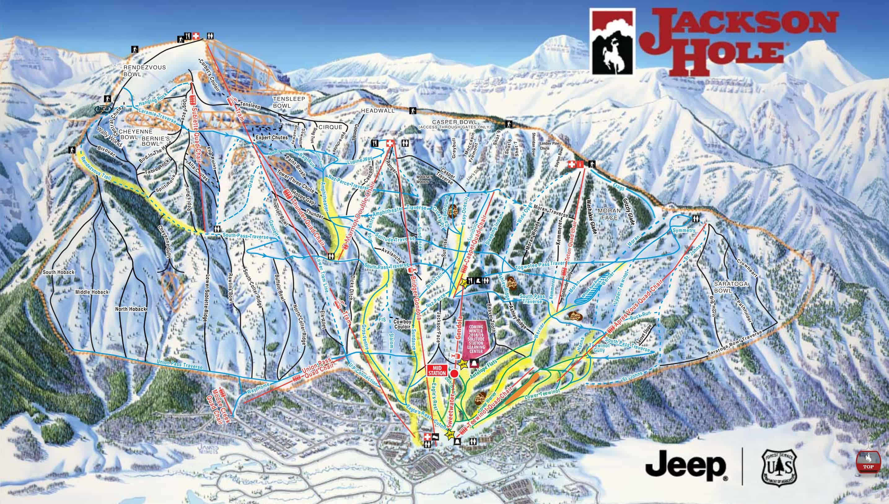 Jackson Hole Trailmap