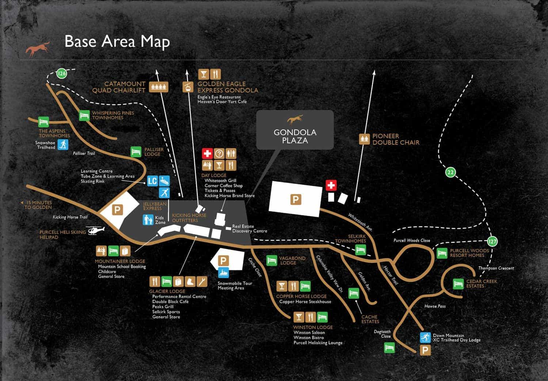Kicking Horse map